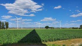 Windräder Feld