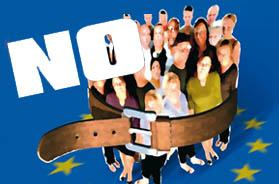 Aktion der europäischen Gewerkschaften