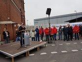 Protestkundgebung der Siemens-Beschäftigten für den Erhalt der Arbeitsplätze
